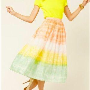 NWT Alice + Olivia Liberty Sorbet Watercolor Skirt